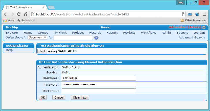 Configuring ADFS 4 0 as an SSO Identity Provider for TechDoc | DocuBrain